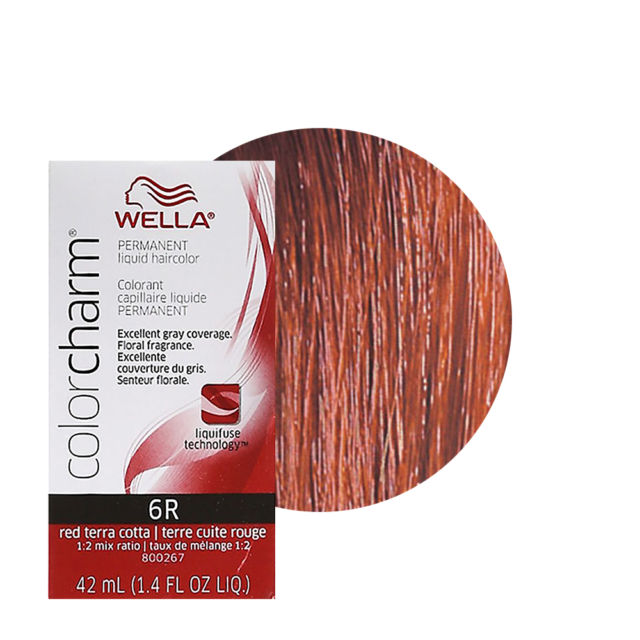 Wella Color Charm Liquid Creme Hair Color #6R Red Terra Cotta ...