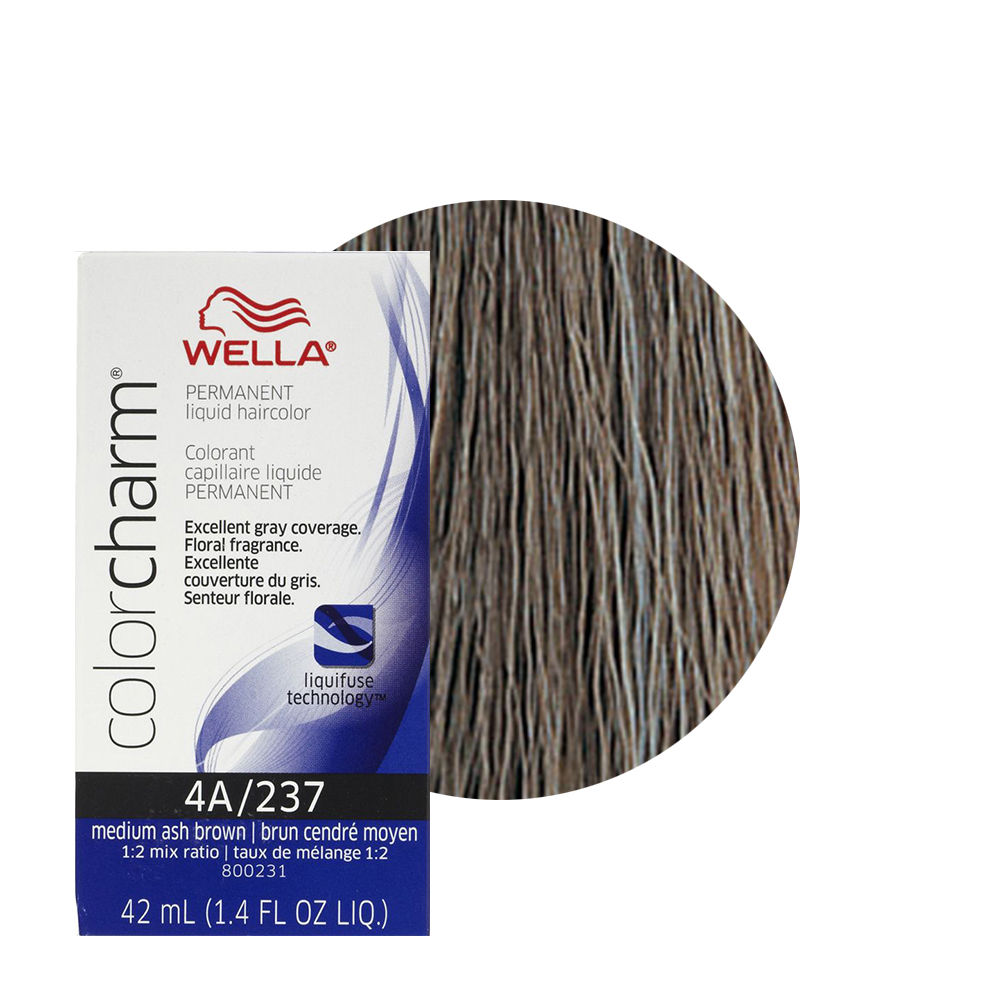 Wella Color Charm Liquid Creme Hair Color 237 Medium Ash