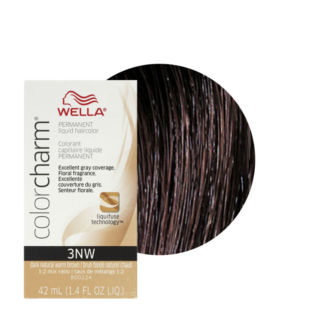 Wella Color Charm Liquid Creme Hair Color #3NW Dark Nat. Warm Brown