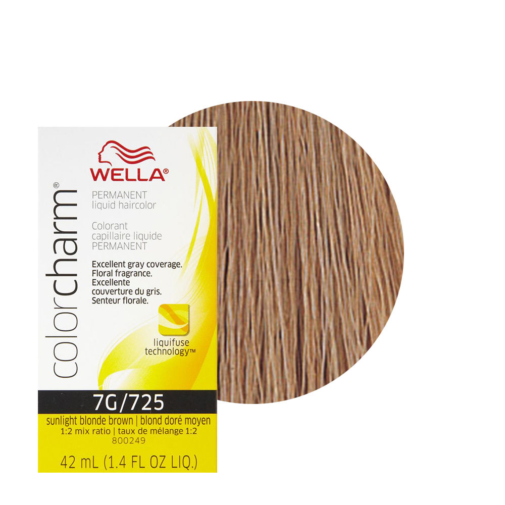 Wella Color Charm Liquid Creme Hair Color 725 Sunlight Blonde Brown