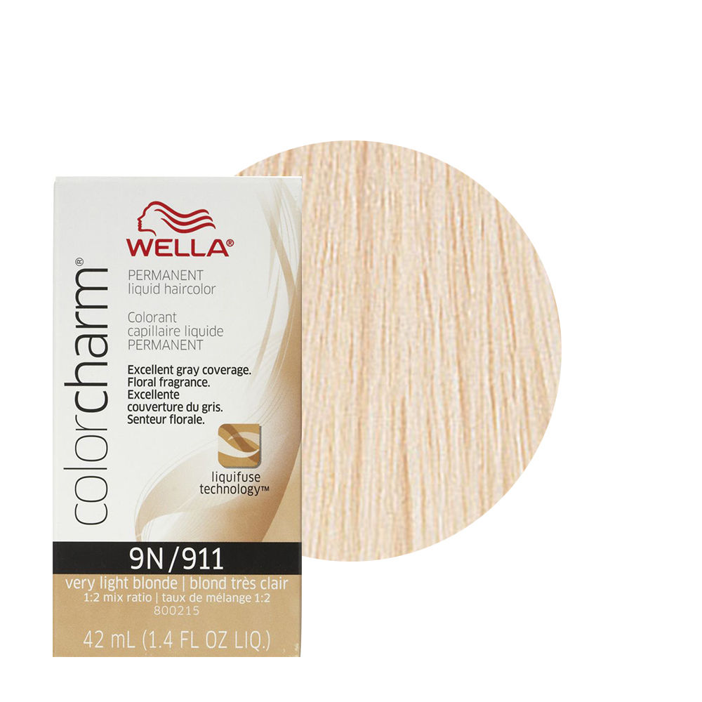 Wella Color Charm Liquid Creme Hair Color 911 Very Light Blonde