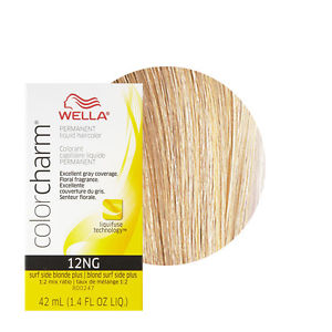 Wella Color Charm Liquid Creme Hair Color #12NG Surf Side Blonde ...