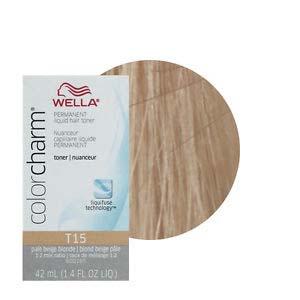 Wella Hair Color Charm Baroness Beige is extra mild toner liquid ...