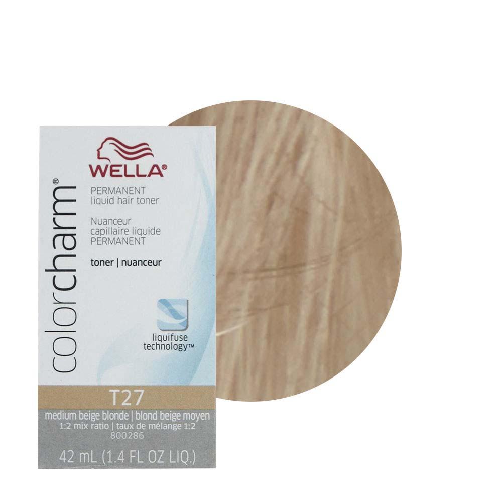 Wella Hair Color Charm Regal Beige Is Extra Mild Toner Liquid Creme